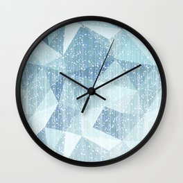 Abstract geometric pattern.Blue and white. Wall Clock