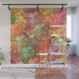 Rustic tree slices in a modern style Wall Mural