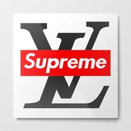LV x Supreme Metal Print