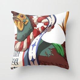 Chickemono Throw Pillow