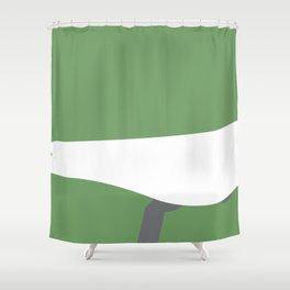 Bicycle Bird Minimal Shower Curtain