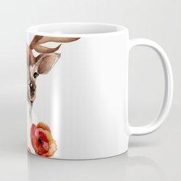 Deer with flowers 2 Coffee Mug