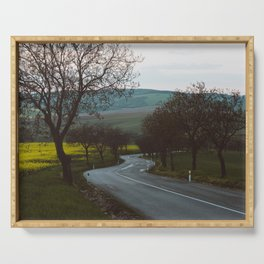 Along a rural road - Landscape and Nature Photography Serving Tray