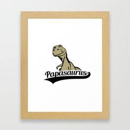 Papasaurus Framed Art Print
