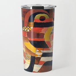 Lovers by Paul Klee, 1920 - Abstract Art Travel Mug