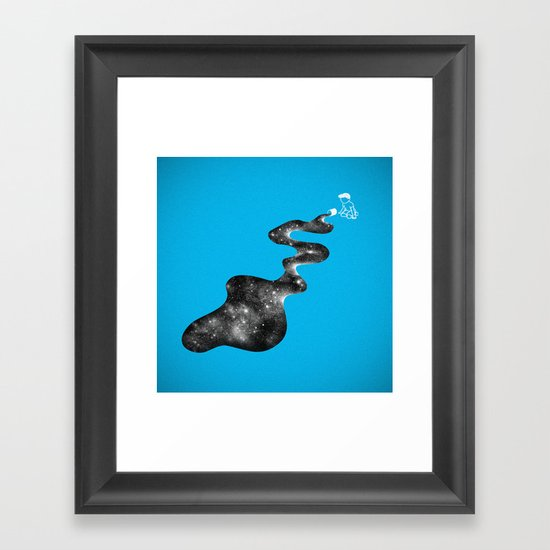 Don't Cry Over Spilled Milky Way Framed Art Print