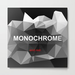 Red monochrome Metal Print