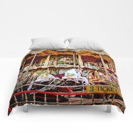 Double Decker Carnival Carousel Horse Comforters