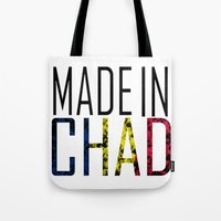 chad wys Tote Bags featuring Made In Chad by VirgoSpice
