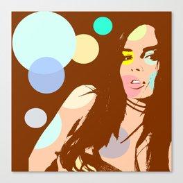 Pop girl Canvas Print