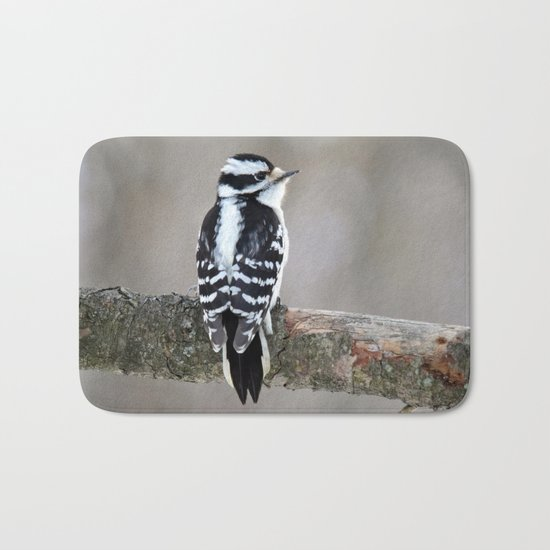Stunning in Black and White Bath Mat