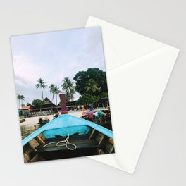 Long Boat Rides on Phi Phi Island Stationery Cards