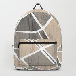 Barcelona City Center Map on Wood Backpack