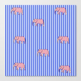 strip and elephants (https://society6.com/vickonskey/collection) Canvas Print