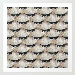 Raku scale pattern Art Print