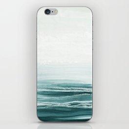 hazy emerald sea iPhone Skin