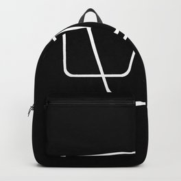 Simply Minimal 2 - Abstract, black and white Backpack