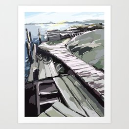 Horsika Pier Art Print