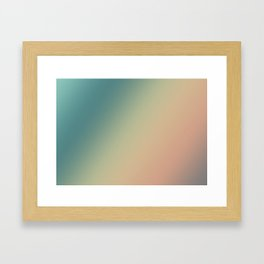Evening Sand - Gradients are the new colors. Framed Art Print