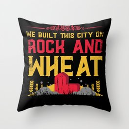 board game, settle, longest road Throw Pillow