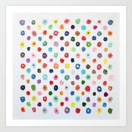 Concentric Confetti Polka Daubs Art Print