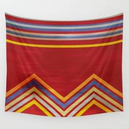 Stripes and Chevrons Ethic Pattern Wall Tapestry