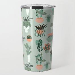 Houseplants Pattern 01 Travel Mug
