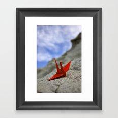 Paper Crane Framed Art Print