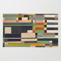 fez Area & Throw Rugs featuring Paralelos by Fernando Vieira
