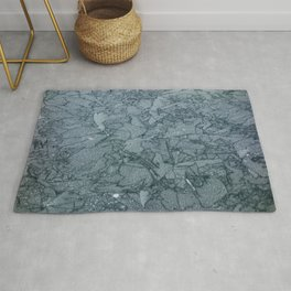 Abstract Ice on Steel Derrick quarry Rug