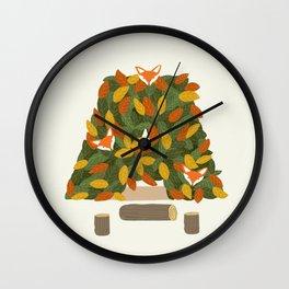 Autumn and Fox Wall Clock