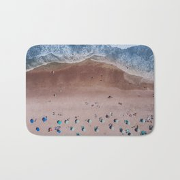 Beach Print, Contemporary Beach, Aerial Beach Bath Mat