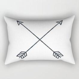 Black Arrows on White Paper Rectangular Pillow