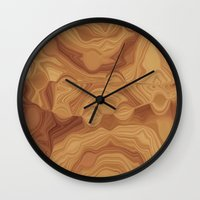 chocolate Wall Clocks featuring Chocolate by Kimberly McGuiness