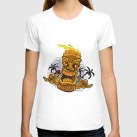 tiki T-shirts featuring Tiki by Eye Opening Design