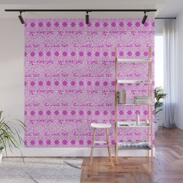 Lacey Lace - White Pink Wall Mural