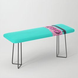 Cha-Cha's Tacos Retro Vintage Pink Sign Bench