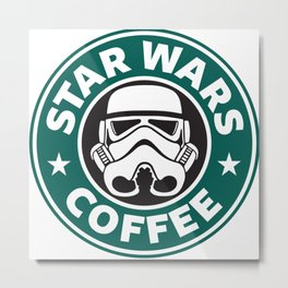 STORMTROOPER COFFEE Metal Print