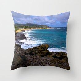"""Hanauma Bay"" Throw Pillow"