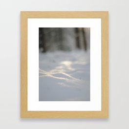 Snow crest Framed Art Print