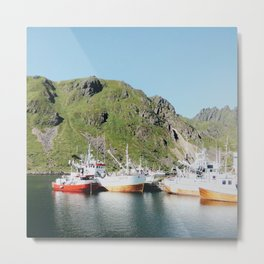 Norwegian fishing boats Metal Print