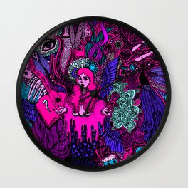 Crazy Doodle- Colored Version Wall Clock