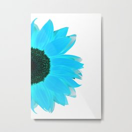 portrait of summer - blue white Metal Print