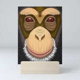 Old Chimpanzee Mini Art Print