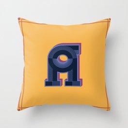 Alphabet Drop Caps Series- A Throw Pillow
