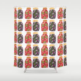 Ferments, Pickles & Kimchi Shower Curtain