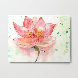 SEKA Lotus Metal Print