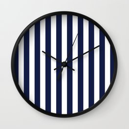Stripe Vertical Navy Blue Wall Clock