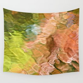 Coral Mosaic Abstract Art Wall Tapestry