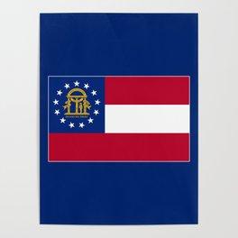 Georgia State Flag Poster